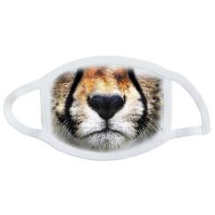 Не медицинская маска с принтом белая тигр