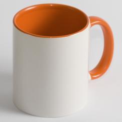 Чашка Цветная оранжевая
