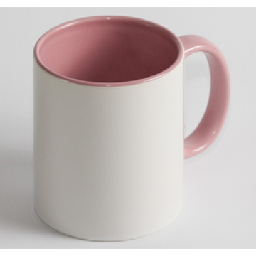 Чашка Цветная розовая