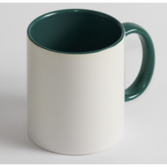 Чашка Цветная зеленая