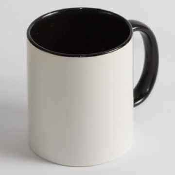 Чашка Цветная черная