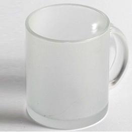 """Чашка белая """"Стекло"""" матовое"""