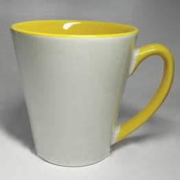 """Чашка """"латте"""" желтая"""