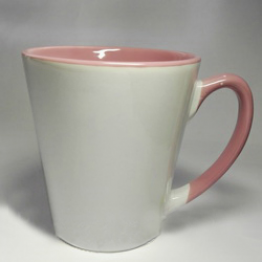 """Чашка """"латте"""" розовая"""