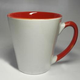 """Чашка """"латте"""" красная"""