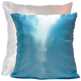 Подушка для фото бело-голубая