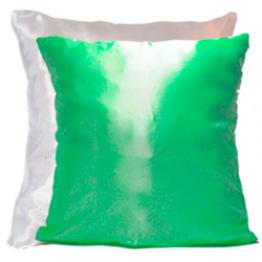 Подушка для фото бело-зеленая