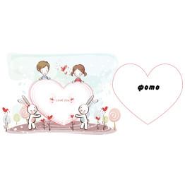 Рамка для чашки с фото к дню Святого Валентина