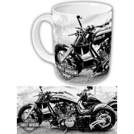"Чашка ""Harley-Davidson"" черно-белая"