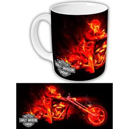 "Чашка ""Harley-Davidson"" огонь"