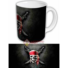 """Чашка """"Пиратский флаг веселый роджер"""""""