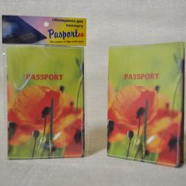 """Обложка на паспорт """"Маки"""""""