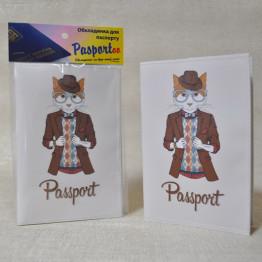 """Обложка на паспорт """"Кот"""""""