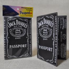 """Обложка на паспорт """"Jack Daniels black"""""""