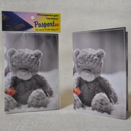 "Обложка на паспорт ""Мишка тедди"""
